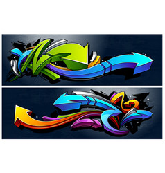 Graffiti arrows banners vector
