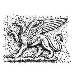 Griffin vintage vector
