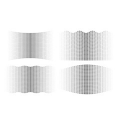 halftone wavy gradient circle dots backgrounds set vector image