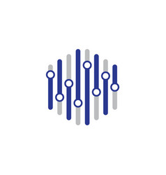 hexagon technology vector image