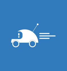 Icon on background remote control car vector