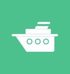 Icon ship silhouette vector