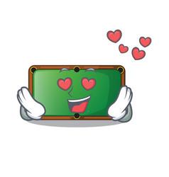 In love billiard table in the mascot playroom vector