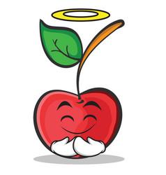 Innocent cherry character cartoon style vector