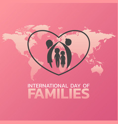 international day of families logo icon design vector image