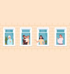 international neighborhood multicultural vector image