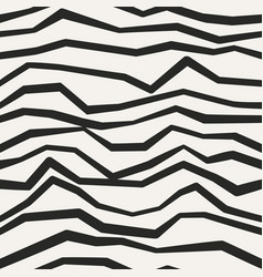 Jagged monochrome seamless pattern vector