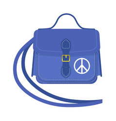 Journey suitcase travel handbag vector