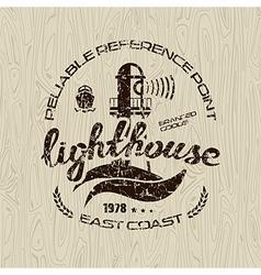 Lighthouse emblem for t shirt vector
