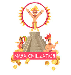maya civilization vector image
