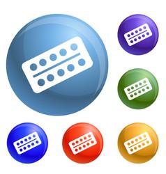 medicine drugs icons set vector image