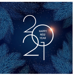 Merry christmas and happy new 2021 year holiday vector