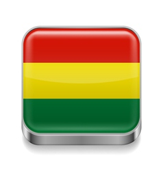 Metal icon of Bolivia vector