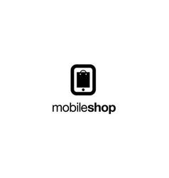 Mobile shop logo design concept vector