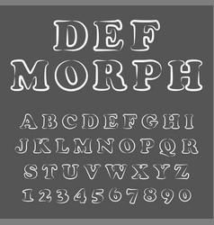 modern playful font and alphabet vector image