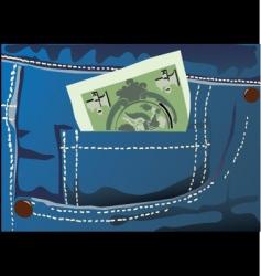Money jeans vector