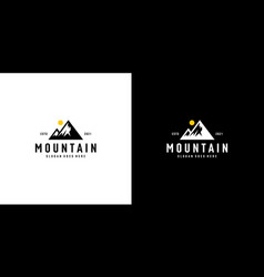 mountain logo design emblem vector image