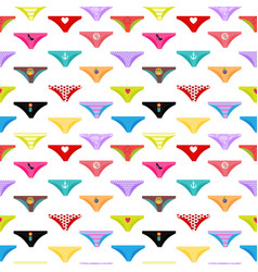 multicolored briefs pants collection seamless vector image