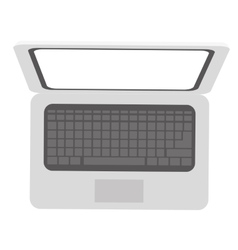 open laptop icon image vector image