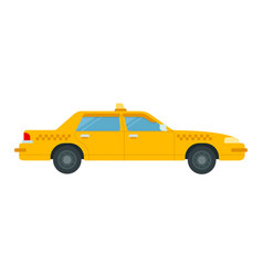 passenger car to work in a taxi icon flat isolated vector image