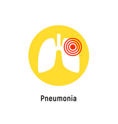 pneumonia respiratory inflamed icon asthma vector image