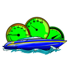 racing boat top view vector image