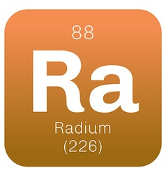 Radium chemical element vector