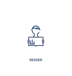 reader concept 2 colored icon simple line element vector image