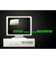 Retro computer vector