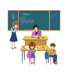 School class behavior teacher-03 vector