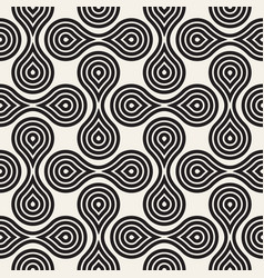 Seamless pattern concentric circle shapes vector