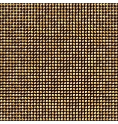 Shining Golden Dots Disco Mosaic Background vector image