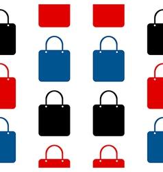 Shopping bag symbol seamless pattern vector image