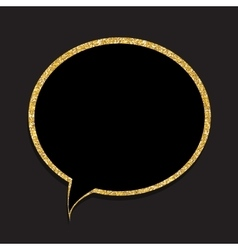 Speech Bubble Gold Glossy Background vector image