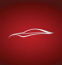 Speedy auto logo over red vector image vector image