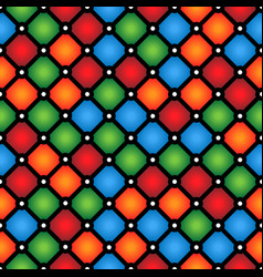 stained-glass window pattern with simple geometric vector image