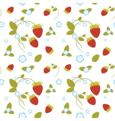 Strawberries Seamless vector image