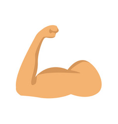 Strong power muscle arms icon vector