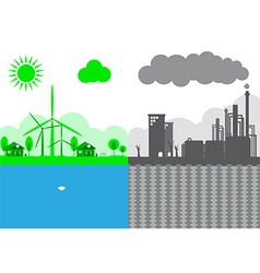 Sustainability of Earth Ecology Concept vector image
