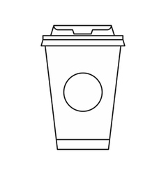 Take away coffee cup icon outline style vector