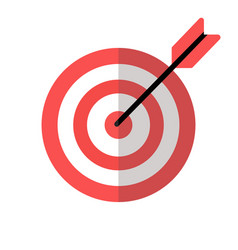 Target red icon with arrow vector