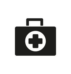 The medicine chest icon Ambulance symbol Flat vector image