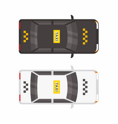 top view two taxi car vector image