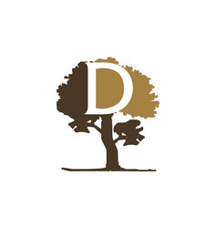 tree letter d vector image