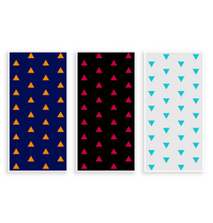 triangle repeat patterns banner set vector image