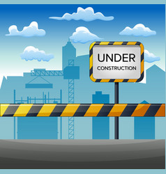 Under construction site with build vector