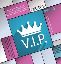 Vip icon symbol Flat modern web design with long vector