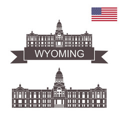 wyoming vector image
