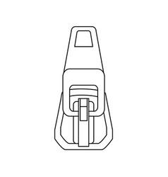 zipper symbol vector image