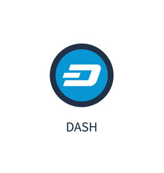 dash cryptocurrency icon title vector image vector image